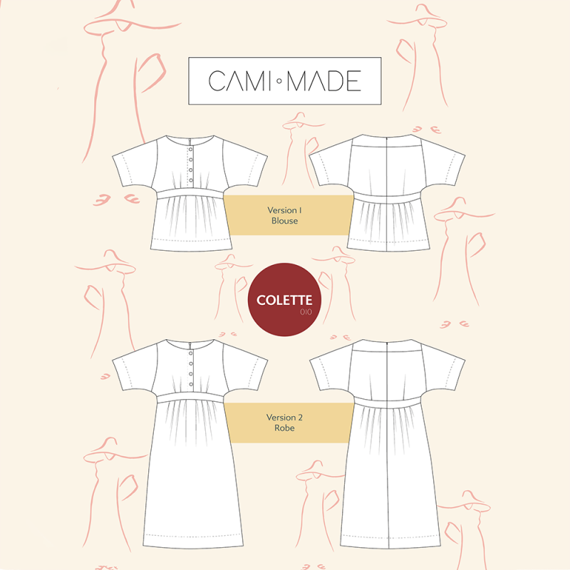 Robe-top Colette PDF Cami Made