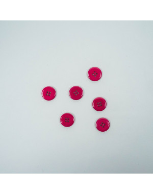 Bouton rond laqué - 12mm - framboise